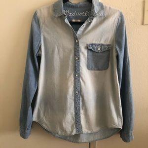 Madewell Denim Two-tone Shirt
